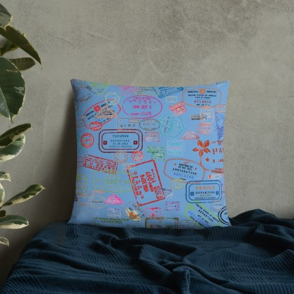 airplaneTees Going Places Pillow - Light Blue 34
