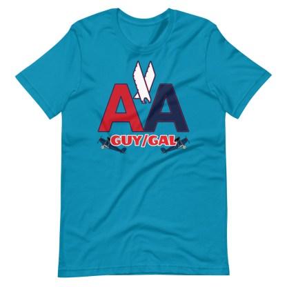 airplaneTees CUSTOM AA Tee, American Guy/Gal Tee Short-Sleeve Unisex 11