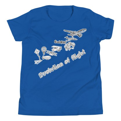 airplaneTees Evolution of Flight Youth Tee... Short Sleeve 1