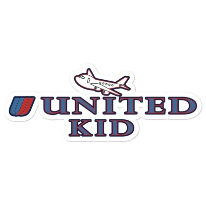 airplaneTees United Kid Stickers... Bubble-free 1