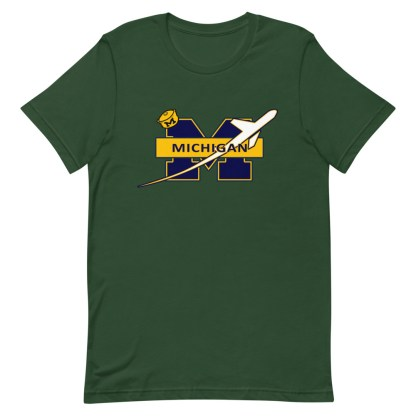 airplaneTees Michigan Wolverines Tee, with an airplane... Short-Sleeve Unisex 10