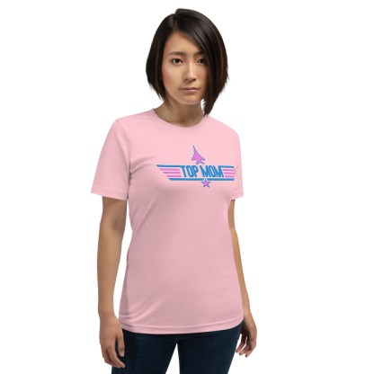 airplaneTees Top Mom tee in Pink... Short-Sleeve Unisex 5