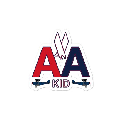 airplaneTees AA Kid Stickers... Bubble-free 2