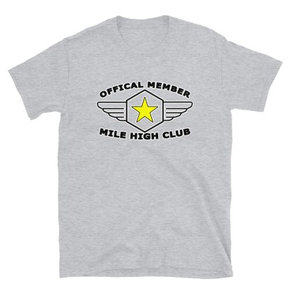 airplaneTees Official Member Mile High Club Tee Short-Sleeve Unisex 1