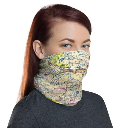 airplaneTees LAX - Los Angeles VFR Sectional Face Mask/Face Covering/Neck Gaiter 3