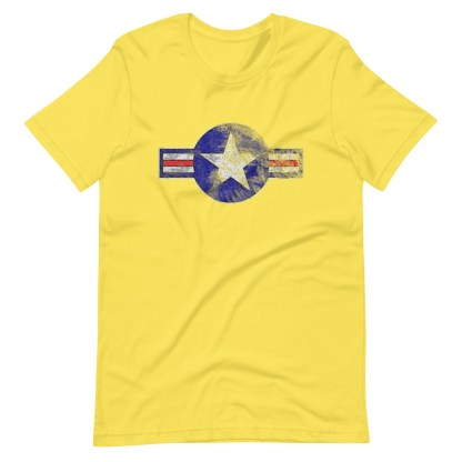 airplaneTees Roundel US Armed Forces tee weathered...Short-Sleeve Unisex T-Shirt 14