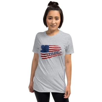 airplaneTees Pilot US Flag Tee... Short-Sleeve Unisex 5