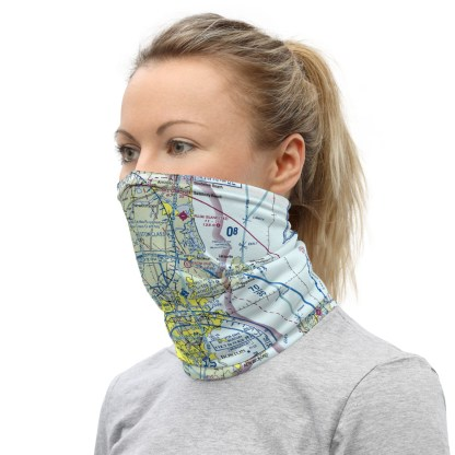 airplaneTees BOS - Boston VFR Sectional Face Mask/Face Covering/Neck Gaiter 3