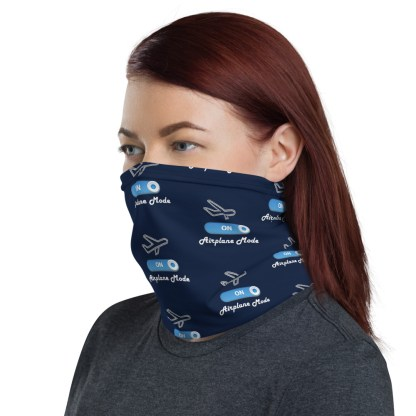 airplaneTees Airplane Mode ON Face Mask/Face Covering/Neck Gaiter 2