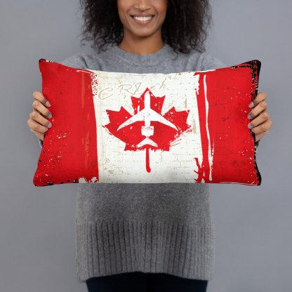 airplaneTees Canada CRJ eh Pillow - Different Images on each side 3