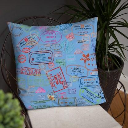 airplaneTees Going Places Pillow - Light Blue 37