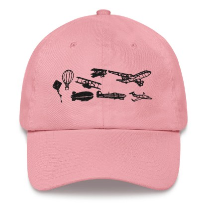 airplaneTees Evolution of Flight Dad hat 7