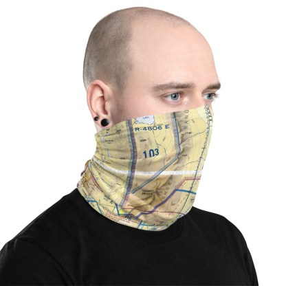 airplaneTees LAS - Las Vegas VFR Sectional Face Mask/Face Covering/Neck Gaiter 3