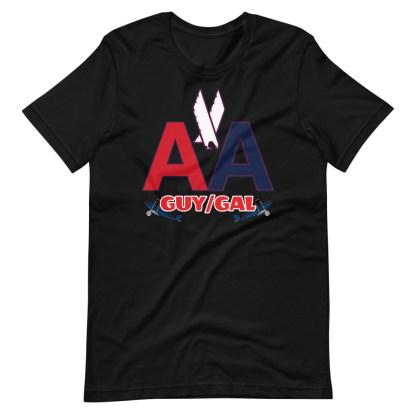 airplaneTees CUSTOM AA Tee, American Guy/Gal Tee Short-Sleeve Unisex 7