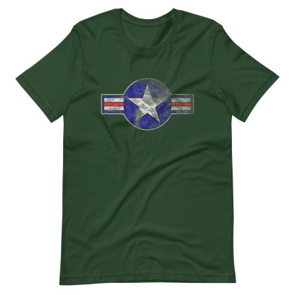 airplaneTees Roundel US Armed Forces tee weathered...Short-Sleeve Unisex T-Shirt 1