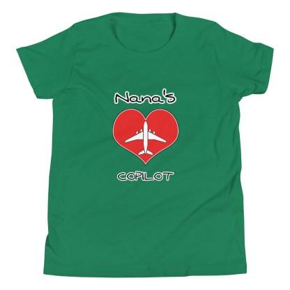 airplaneTees CUSTOM Nana's CoPilot, Grannies CoPilot, Papa's CoPilot Tee Youth Short Sleeve 6