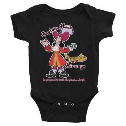 airplaneTees Captain Hook Airways Onesie... Infant Bodysuit 3