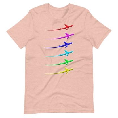 airplaneTees Pride Streak Tee - Short-Sleeve Unisex 10