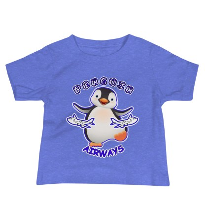 airplaneTees Penguin Airways Baby Tee... Baby Jersey Short Sleeve 4