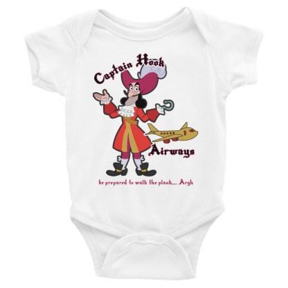 airplaneTees Captain Hook Airways Onesie... Infant Bodysuit 4