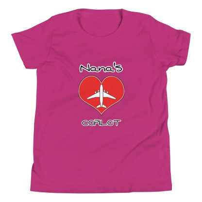 airplaneTees CUSTOM Nana's CoPilot, Grannies CoPilot, Papa's CoPilot Tee Youth Short Sleeve 11
