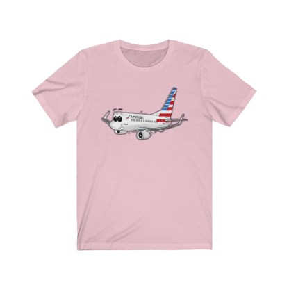 airplaneTees American Airlines Smiley 737 Tee... Unisex Jersey Short Sleeve 12