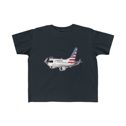 airplaneTees American Airlines Smiley 737 Toddler Tee... Kid's Fine Jersey 4