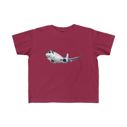 airplaneTees Happy 737 Toddler Tee - Kid's Fine Jersey 6
