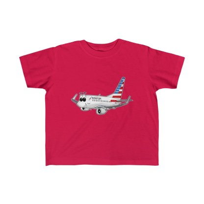 airplaneTees American Airlines Smiley 737 Toddler Tee... Kid's Fine Jersey 6