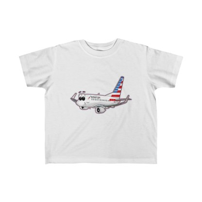 airplaneTees American Airlines Smiley 737 Toddler Tee... Kid's Fine Jersey 2