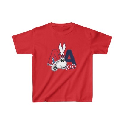 airplaneTees AA Kid Youth Tee Airbus... Kids Heavy Cotton™ 12