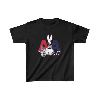airplaneTees AA Kid Youth Tee Airbus... Kids Heavy Cotton™ 3