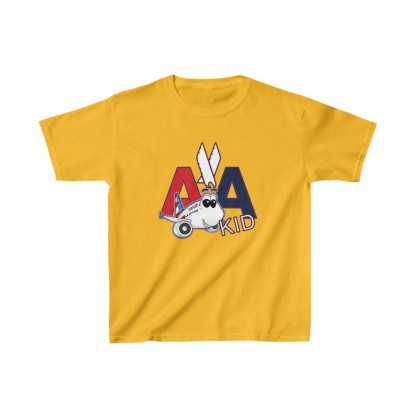 airplaneTees AA Kid Youth Tee Airbus... Kids Heavy Cotton™ 6