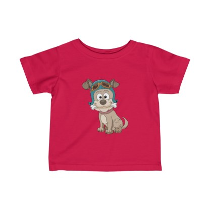 airplaneTees Doggie Pilot Infant Tee... Fine Jersey 1