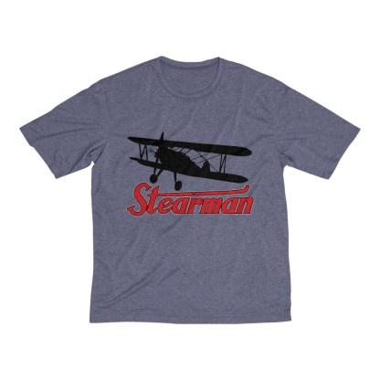 airplaneTees Stearman Tee... Men's Heather Dri-Fit 7