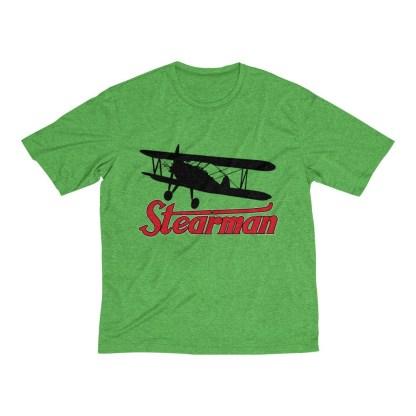 airplaneTees Stearman Tee... Men's Heather Dri-Fit 4