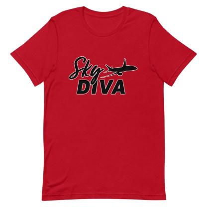 airplaneTees Sky Diva Tee... Short-Sleeve Unisex Black 15