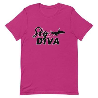 airplaneTees Sky Diva Tee... Short-Sleeve Unisex Black 16