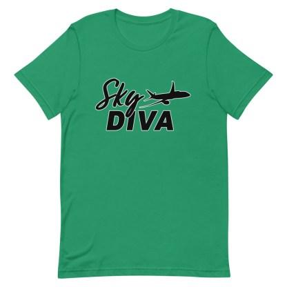 airplaneTees Sky Diva Tee... Short-Sleeve Unisex Black 10