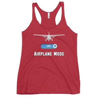 airplaneTees GA Airplane Mode tank top... Women's Racerback 15