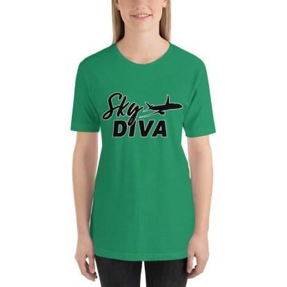 airplaneTees Sky Diva Tee... Short-Sleeve Unisex Black 3