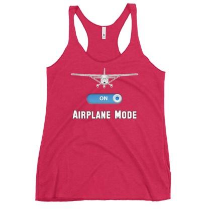 airplaneTees GA Airplane Mode tank top... Women's Racerback 16