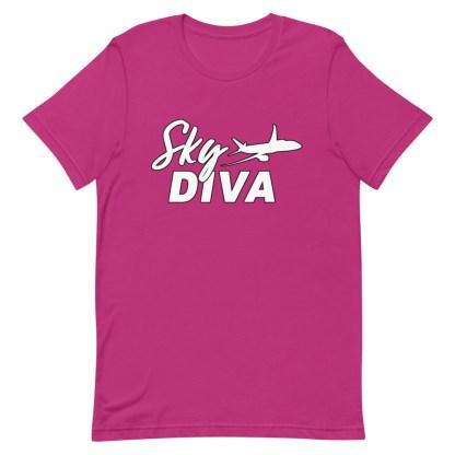 airplaneTees Sky Diva Tee... Short-Sleeve Unisex White 17