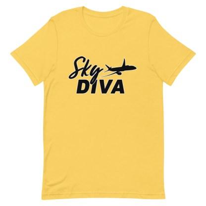 airplaneTees Sky Diva Tee... Short-Sleeve Unisex Black 13