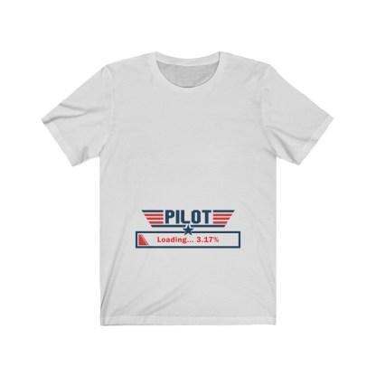 airplaneTees Preggo Pilot Tee... Unisex Jersey Short Sleeve 3