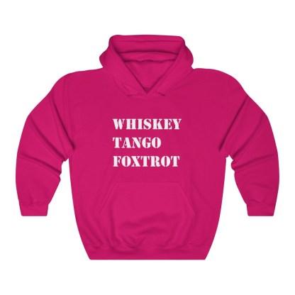 airplaneTees WTF Whiskey Tango Foxtrot Hoodie - Heavy Blend™ Hooded Sweatshirt 13