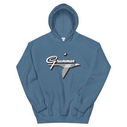 airplaneTees Old Grumman Logo Hoodie - Unisex 7