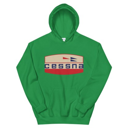 airplaneTees Old Cessna Logo Hoodie - Unisex 9