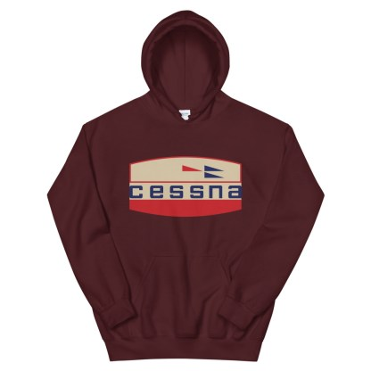 airplaneTees Old Cessna Logo Hoodie - Unisex 6