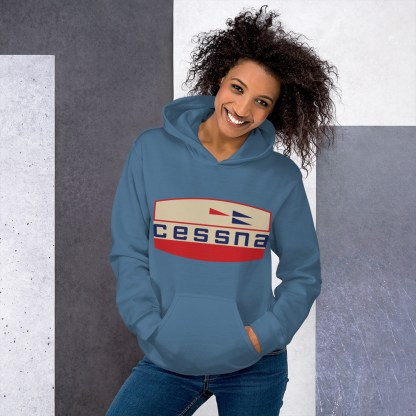 airplaneTees Old Cessna Logo Hoodie - Unisex 3